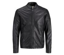 Klassisches Lederjacke schwarz