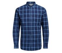 Klassisches Langarmhemd blau