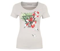 T-Shirt mit Logo-Print grau