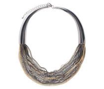 Grobe Halskette gold / silber
