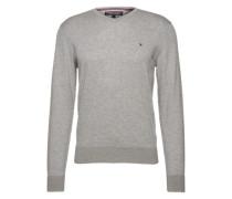 Pullover mit Seiden-Anteil graumeliert
