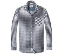 Hemd 'thdm SLS CHK Shirt L/S 20' blau / weiß