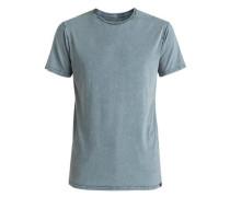 T-Shirt 'Acid Sun' taubenblau