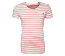 T-Shirt 'T Squeeze round' rot / weiß