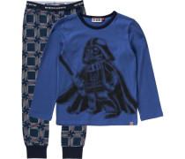 Schlafanzug 'Star Wars' für Jungen dunkelblau / grau / schwarz