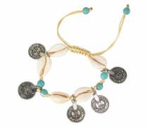 Armband elfenbein / türkis / silber