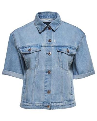 Kurzärmeliges Jeansjacke blau