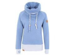Sweatshirt 'Kroon' blau / weiß