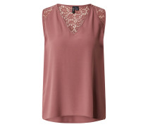 Top 'vmnewdebbie S/L Lace V-Neck TOP Exp'