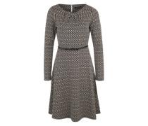 Kurzes Kleid mit Allover-Print schwarz / grau