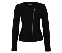 Blazer-Jacke mit Strukturmuster schwarz