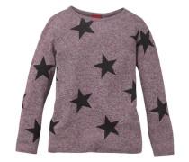 Pullover mit Sterne-Druck für Mädchen rot