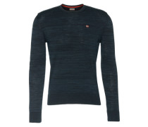 Pullover mit Melange-Design 'Dalice' blau