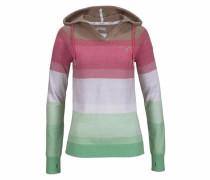 Kapuzenpullover braun / grün / pink / weiß