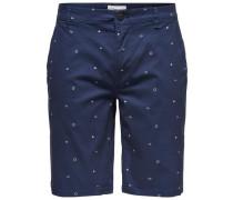 Bedruckte Shorts dunkelblau
