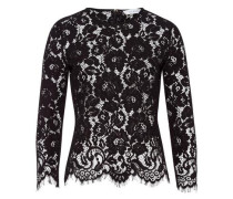 Top Lace Top with Sleeves schwarz