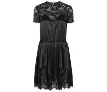 Glänzendes in Falten gelegtes Minikleid schwarz