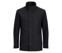 Mantel Wolle grau