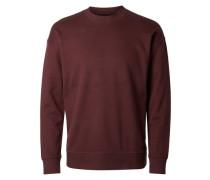 O-Ausschnitt-Sweatshirt braun