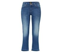 Skinny Boot Cropped Jeans blau