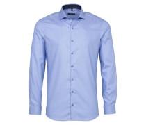 Langarm Hemd Super-Slim blau