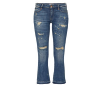 'Cindya' 7/8 Destroyed Denim blue denim