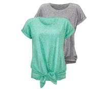T-Shirts (2 Stück) grau / grün