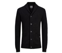 Lässiger Strick-Cardigan schwarz