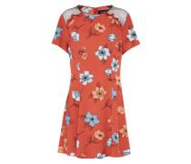 Kleid 'ornate' mischfarben / hellrot