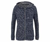 Lounge-Jacket marine / blaumeliert
