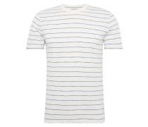 T-Shirt 'SS Slub Stripe Crew' blau / offwhite