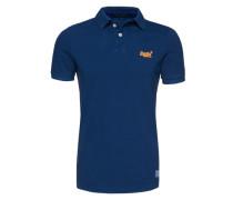 T-Shirt mit Polokragen blau