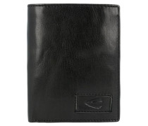 Geldbörse 'Panama' aus Leder 10 cm schwarz