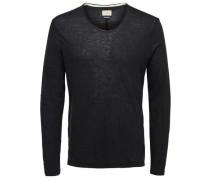 T-Shirt Rundhalsausschnitt schwarzmeliert