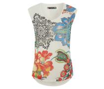 T-Shirt 'Katerne' mischfarben / weiß