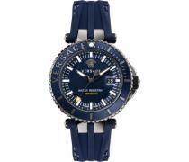 Schweizer Uhr 'v-Race Driver Vak020016' blau / anthrazit