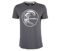 Print-Shirt mit Label-Aufdruck grau