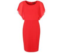 Kleid Rundhals rot