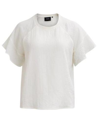 Feminines Oberteil mit kurzen Ärmeln 'objchift' weiß