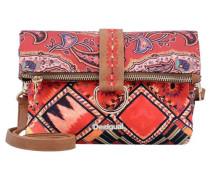 Bols Atenas Boho Umhängetasche 22 cm braun / mischfarben / rot