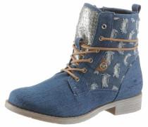 Stiefel blue denim / braun / silber