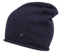 Beanie-Mütze aus Feinstrick navy