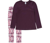 Schlafanzug für Mädchen rosa / rotviolett
