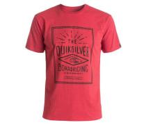 T-Shirt 'Heather Double Lines' rot / schwarz