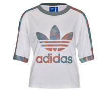 T-Shirt mit Camouflage-Muster weiß