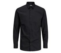 Langarmhemd bügelfrei schwarz
