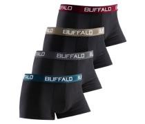 Microfaser-Hipster (4 Stück) unifarbene Retro Pants mit Kontrastbund tolle Qualität schwarz