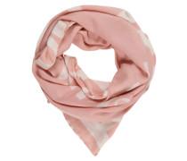 Tuch mit Marken-Print rosa