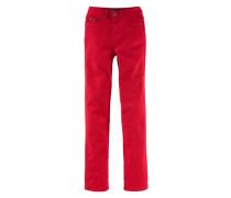 Bequeme Jeans 'Gerade Jeans mit klassicher Leibhöhe' hellrot