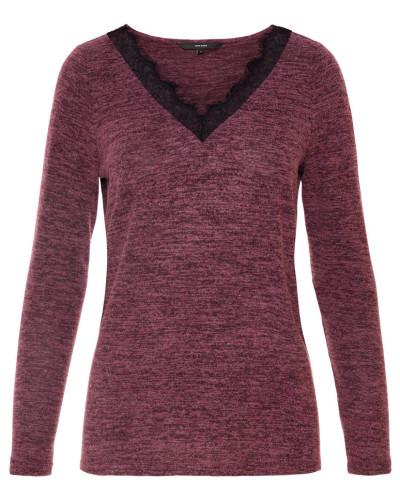 Pullover weinrot / schwarz